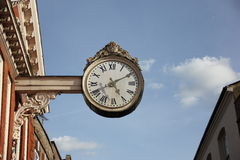 Clock in the street Royalty Free Stock Photos