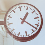 Clock in the subway station with retro effect Stock Photography