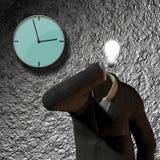Clock, suit idea Stock Photos