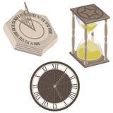 Clock, Sundial, Hourglass