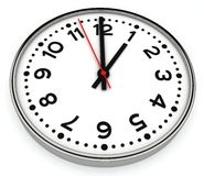 Clock with sweep second hand Stock Photo