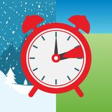 Clock switch to winter time and to summertime.  Stock Photography