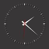 Clock symbol on dark background,clean vector Stock Photo