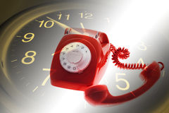 Clock and Telephone Stock Photos