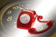 Clock and Telephone Stock Photos