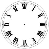 Clock Template. Precision roman clock face template Royalty Free Illustration