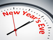 Clock with the text new year´s eve Stock Photo