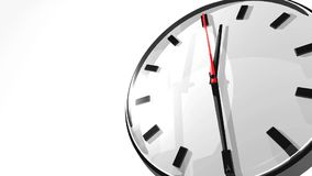 Clock With Text Space Stock Image