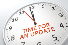 Clock with text time for an update Stock Photo