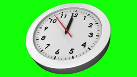 Clock ticking on green background stock video