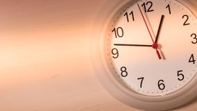 Clock ticking showing one hour Royalty Free Stock Photography