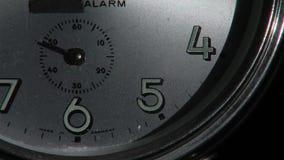 Clock ticking. Time is ticking way, old alarm clock stock footage