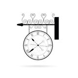 Clock ticking vector on white. Clock ticking old vector on white Royalty Free Stock Photography