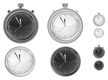 clock tidmätaren Vektor Illustrationer