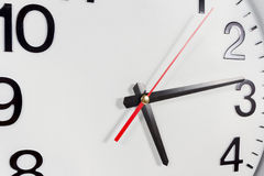 Clock or time abstract background. white clock with red and blac Royalty Free Stock Image