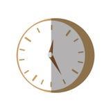Clock time business money flat icon. Illustration eps 10 Stock Photo