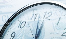 Clock. Time business noon closeup urgent lunch Royalty Free Stock Image