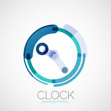 Clock, time company logo, business concept Stock Photos