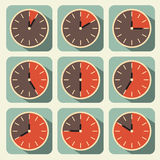 Clock - Time Countdown Vector Set Royalty Free Stock Photos
