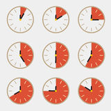 Clock - Time Countdown Vector Set Stock Photo