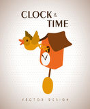 Clock and time design Royalty Free Stock Images