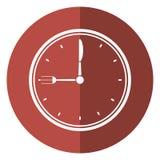 Clock time dinner restaurant fork and knife shadow. Vector illustration eps 10 Stock Photography