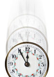 Clock time fading away Stock Photo