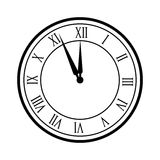 Clock time icon Royalty Free Stock Images
