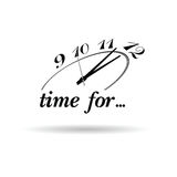 Clock and time for icon illustration Stock Photos