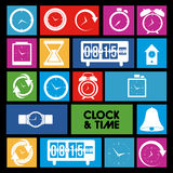 Clock and time icons Royalty Free Stock Photo