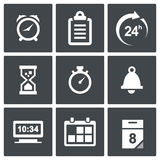Clock and time icons Royalty Free Stock Photos