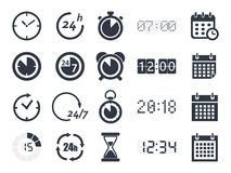 Time clock icons Royalty Free Stock Image