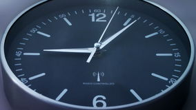Clock time lapse 3. Time. Closeup of a black office clock vector illustration