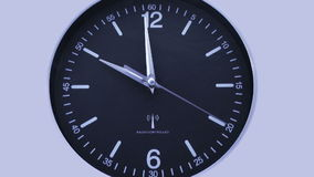 Clock time lapse 2. Time. Closeup of a black office clock vector illustration