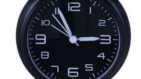 Clock time lapse 6. Time. Closeup of a black office clock stock illustration