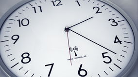 Clock time lapse 4 K. Time. Closeup of a white office clock stock illustration