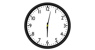 Clock, time lapse stock video footage
