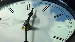 Clock in time-lapse loop stock video footage