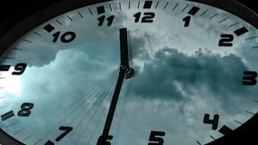 Clock in time-lapse loop sequence stock video footage