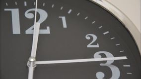 Clock Time Lapse. Clock minute, second and hour hands moving fast stock video footage