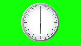 Clock Time Lapse. Twelve hour abstract clocktime lapse on green background vector illustration