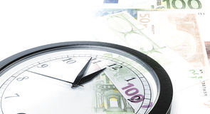 Clock time money Royalty Free Stock Photo