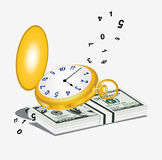 Clock time money dollar Royalty Free Stock Image