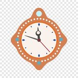 Clock time new year icon, flat style. Clock time new year icon. Flat illustration of clock time new year vector icon for web design vector illustration