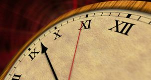 Clock time passing classic macro view stock video footage