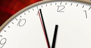 Clock time passing macro view stock video