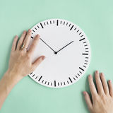 Clock Time Second Minute Hour Puntual Circle Concept. Time Clock Minute punctual Concept Royalty Free Stock Images