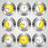Clock with time stamp set Stock Image