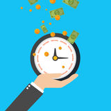 Clock with Time for Success on its face, vector Royalty Free Stock Photography