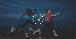 Clock Time Timer Orgarnization Hour Minute Concept Royalty Free Stock Images